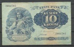 Estland Estonia 1928 Bank Note Banknote 10 Krooni 1928 - Estland