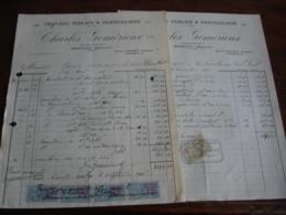 Servon Marne Travaux Public Charles Gomerieux  Lot 4   Facture - 1900 – 1949
