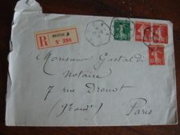 Recommande Auch  A Recette Auxiliaire Lettre Recommandee - Storia Postale
