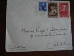 Yt 636 P De Chavannes Yt 448 Pour Musee Postal Affranchissement Sur Lettre - Poststempel (Briefe)