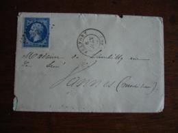 Belfort 346 Petit Chiffre Obliteration Sur Lettre Timbre Empire Non Dentele - Marcophilie (Lettres)