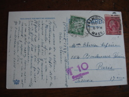 Lettre Taxee Paire Timbre Chiffre Taxe Duval  60 C Vert - 1921-1960: Modern Period