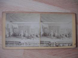 Photo Stereo Theatre Le Collier De La Reine Ambassade Portugaise Photographie Stereoscopique - Fotos Estereoscópicas