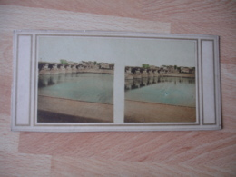 Photo Stereo Colorisee Pont De Saint Cloud Photographie Stereoscopique - Fotos Estereoscópicas