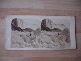 Photo Stereolac Glace Chute Niagara  Etats Unis Photographie Stereoscopique - Fotos Estereoscópicas