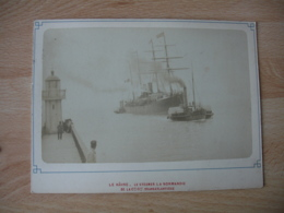 Photo Paquebot Remorqueur Le Havre   Photographie Ancienne - Orte