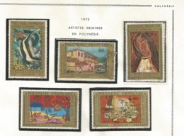 98/102  Artistes En Polynésie  (pag12 Claspolubleu) - Poste Aérienne
