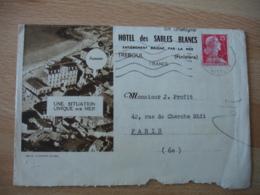 Hotel Des Sables Blancs Treboul Carte Et Enveloppe Commerciale - 1900 – 1949