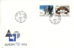 Finlande - Europa - Lettre FDC De 1993 -oblit Helsinki -  Art Moderne - Europa-CEPT