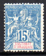 Col17  Colonie Anjouan N° 6 Neuf  (X) No Gum Cote 17,50€ - Anjouan (1892-1912)