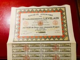 S.A.  Des  ÉTABLISSEMENTS   LEVILAIN  -------Action  De  250 Frs - Industry