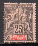 Col17  Colonie Anjouan N° 8 Neuf  X MH Cote 20,00€ - Neufs
