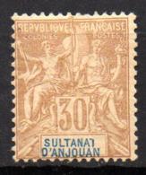 Col17  Colonie Anjouan N° 9 Neuf  X MH Cote 40,00€ - Neufs