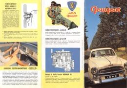 "08733 ""PEUGEOT 1960"" PIEGHEVOLE PUBBL. ORIG. IN LINGUA FRANCESE - Pubblicitari"