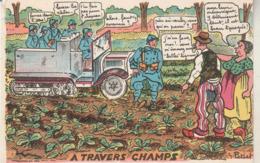 Humour : à Travers Champs : Illust. G. Petiet - Humour