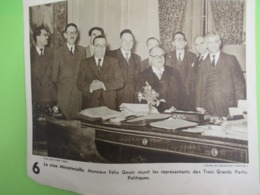 Imp.d'époque D'une Photo/New-York Times/crise Ministelle.Monsieur Félix GOUIN Et Les 3 Grands Partis Polit/1946   VPN274 - Berühmtheiten