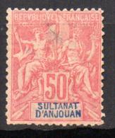 Col17  Colonie Anjouan N° 11 Oblitéré Cote 40,00€ - Oblitérés