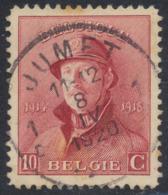 """Roi Casqué - N°168 Obl Simple Cercle """"Jumet"""" - 1919-1920 Trench Helmet"""