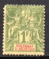 Col17  Colonie Anjouan N° 13 Neuf X MH Cote 100,00€ - Neufs