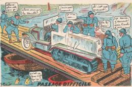 Humour : Passage Difficile : Illustrateur -  G. Petiet - Humour