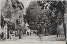 ST- CHINIAN (Hérault)  : Cours La Reine Animé - Francia