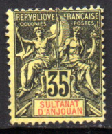 Col17  Colonie Anjouan N° 17 Neuf (X) No Gum Cote 20,00€ - Neufs