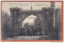 Carte Postale 59. Poix-du-Nord Inauguration  Hommage à La Filature Ducornet  Trés Beau Plan - France