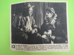 Imp.d'époque D'une Photo/La Folle De Chaillot/Louis JOUVET-Marguerite MORENO/1945                                 VPN275 - Berühmtheiten
