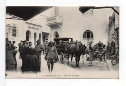 CPA - CASABLANCA - Place De La Poste - Casablanca