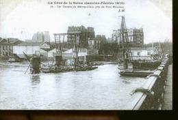 PARIS TRAVEUX DU METRO - La Crecida Del Sena De 1910