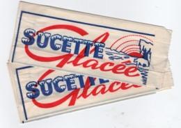 2 Etuis Papier Pour Esquimaux/ Sucette Glacée/Ours Blanc Sur Banquise/ Vers 1950                               VPN276 - Otros