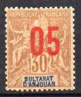 Col17  Colonie Anjouan N° 25 Neuf X MH Cote 2,50€ - Neufs