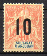 Col17  Colonie Anjouan N° 26 Neuf X MH Cote 2,50€ - Neufs
