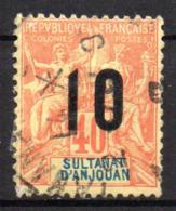 Col17  Colonie Anjouan N° 26 Oblitéré Tananarive Cote 2,80€ - Gebruikt
