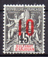 Col17  Colonie Anjouan N° 27 Neuf X MH Cote 3,00€ - Ongebruikt