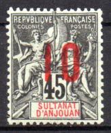 Col17  Colonie Anjouan N° 27 Neuf X MH Cote 3,00€ - Anjouan (1892-1912)