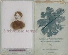 CDV Portrait De Femme--photographie Séraphin Tuduri-bld Du 2e Zouvae à Oran-Algérie - Photographs