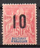 Col17  Colonie Anjouan N° 28 Neuf X MH Cote 7,00€ - Anjouan (1892-1912)