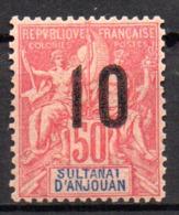 Col17  Colonie Anjouan N° 28 Neuf X MH Cote 7,00€ - Ongebruikt