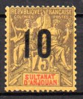 Col17  Colonie Anjouan N° 29 Neuf X MH Cote 4,00€ - Anjouan (1892-1912)