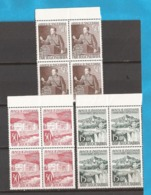 1953  735-37   JUGOSLAVIJA JUGOSLAWIEN  TITO 10 JAHRE SITZUNG DER AVNOJ STADT JAJCE  LUX MNH - 1945-1992 Repubblica Socialista Federale Di Jugoslavia