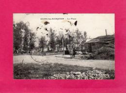 62 Pas De Calais, SAINS-les-MARQUION, La Place, Animée, 1925, (E. Meresse) - Sonstige Gemeinden
