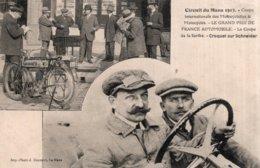 CPA   CIRCUIT DU MANS---INTERNATIONALE DES MOTOCYCLETTES & MOTOCYCLES ---LE GRAND PRIX DE FRANCE AUTOMOBILE---LA COUPE.. - Le Mans