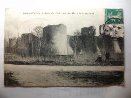 Carte Postale Dordives (45) Ruine Du Chateau Du Mets Le Marechal ( Petit Format Oblitérée 1907 Timbre 5 Centimes ) - Dordives