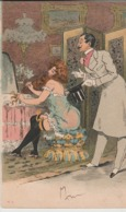 Cartolina - Postcard /  Viaggiata / Sent -  /  Donnina Con Spasimante. - Femmes