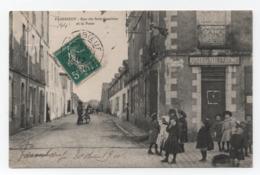 PAIMBOEUF (L.A. 44) - Rue Du Bois-Gauthier Et La Poste. - Enfants, Rue Animée - Télégraphe - Voyagée - TTB. - Paimboeuf