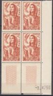 N° 425 En Bloc De 4 Coin Daté 03/04/56 - X X - ( E 1682 ) - Tunisia (1956-...)