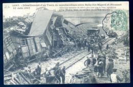 Cpa  Du 22 Entre Belle Ile Bégard Et Plouaret -- Déraillement D' Un Train De Marchandises  Le 17 Juin 1907 LZ68 - Plouaret