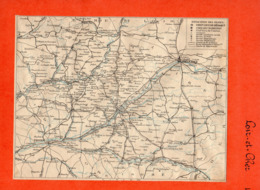 2 Cartes Télégraphique Téléphonique & Des Chemins De Fer Dépt 41 LOIR Et CHER Et42 LOIRE Année 1936 Collée Recto Verso - Europe