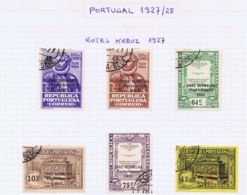 Portugal, 1927/1937 - Red Cross Sets 1927 - 1937 Used  Ii Complete Sets. - 1910-... Republiek